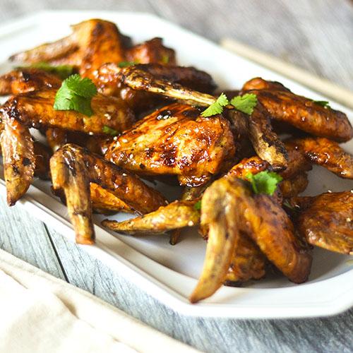 Asian Chicken Wings #Asianfood #wings #glutenfree | feedyoursoul2.com
