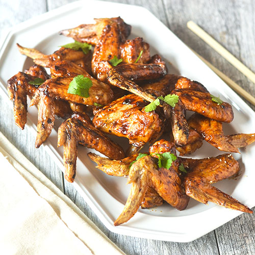 Asian Chicken Wings #Asianfood #wings #glutenfree | feedyoursoul2.com
