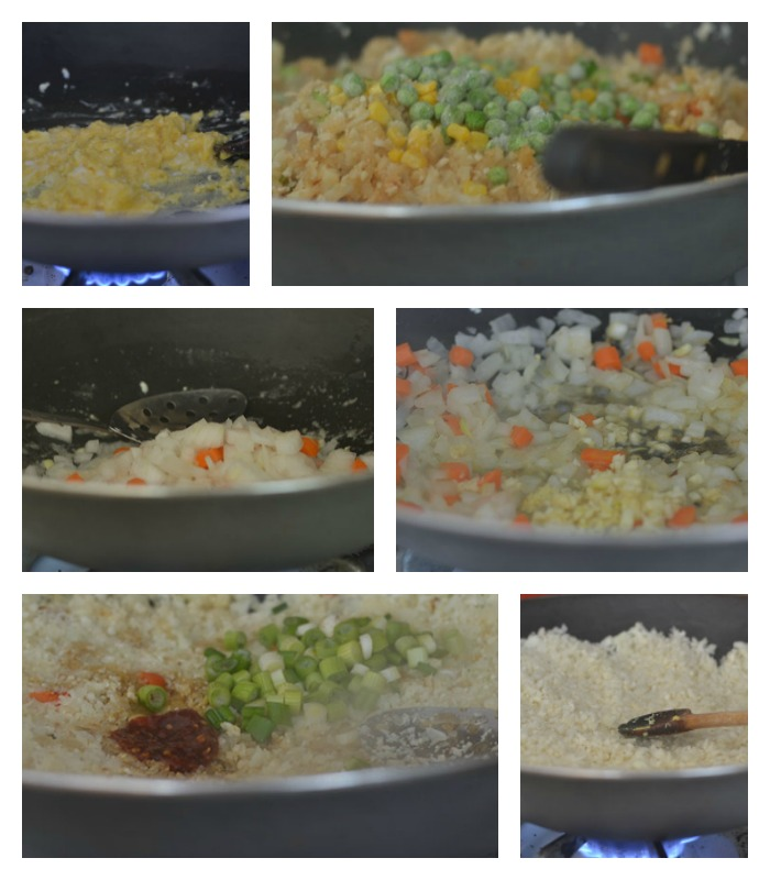 Building the Cauliflower Veggie Fried Rice