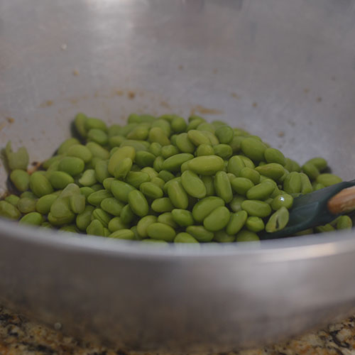 Sauce Added to the Edamame