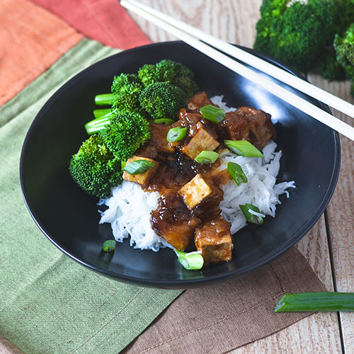 GF Asian Tofu Stir Fry from Feed Your Soul Too