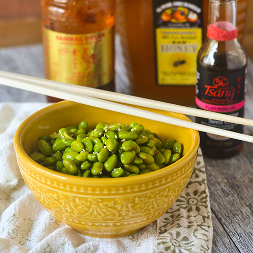 Gluten Free Asian Edamame from Feed Your Soul Too