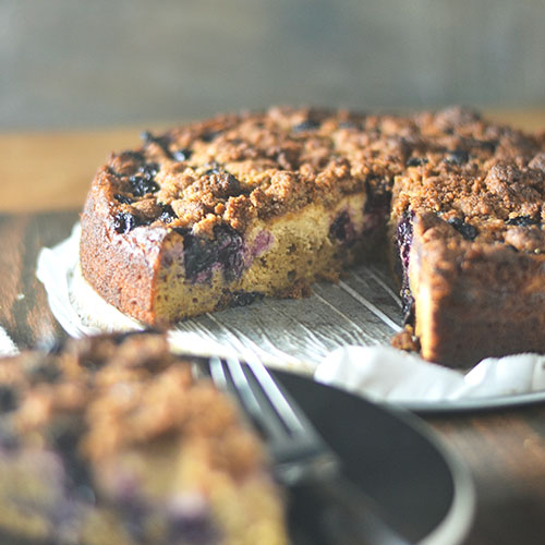 Gluten Free Blueberry Cheesecake #cheesecake #blueberries #glutenfree | feedyoursoul2.com