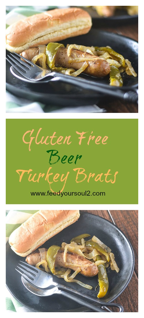 Gluten Free Beer Turkey Brats #comfortfood #brats #glutenfree | feedyoursoul2.com