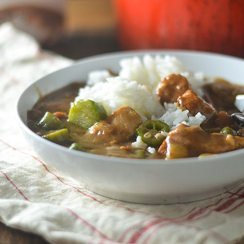 Gluten Free Chicken & Sausage Gumbo from Feed Your Soul Too