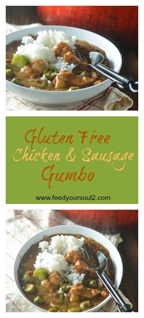 Gluten Free Chicken & Sausage Gumbo #gumbo #Cajunfood #chicken #glutenfree | feedyoursoul2.com