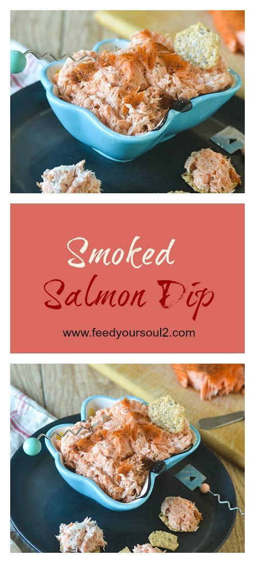 Smoked Salmon Dip #salmon #smokedfood #salmon #glutenfree | feedyoursoul2.com