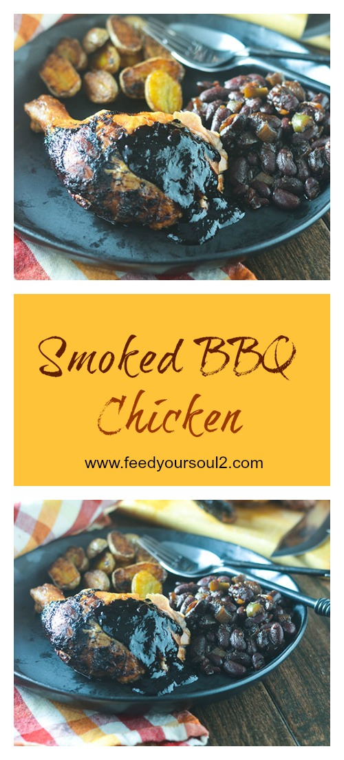 Smoked BBQ Chicken #chicken #smokedfood #Traegergrills #glutenfree | feedyoursoul2.com