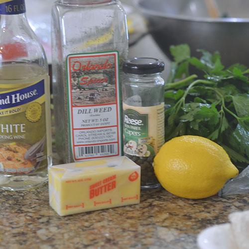Lemon Butter Caper Sauce Ingredients