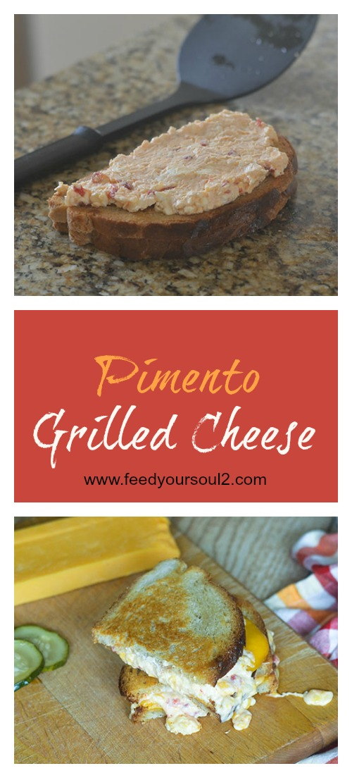 Pimento Grilled Cheese #sandwich #cheese #pimento | feedyoursoul2.com