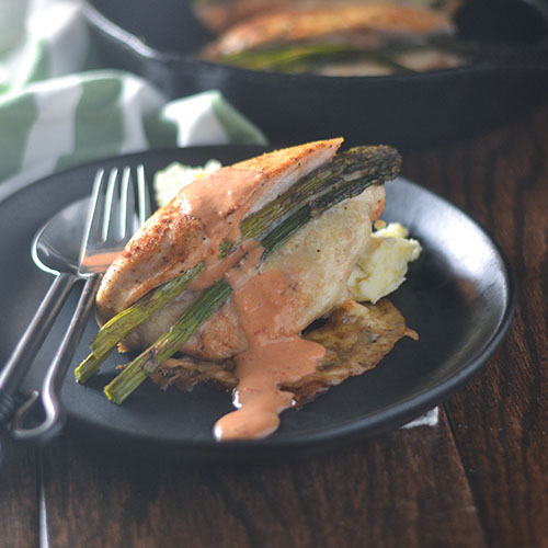 Asparagus Cheese Stuffed Chicken #chicken #cheese #piquante | feedyoursoul2.com