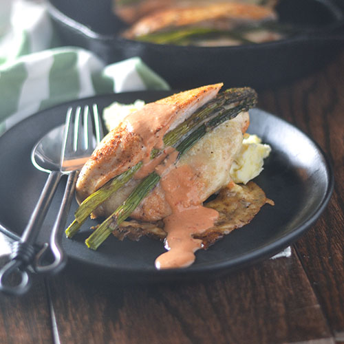 Asparagus Cheese Stuffed Chicken from Feed Your Soul Too