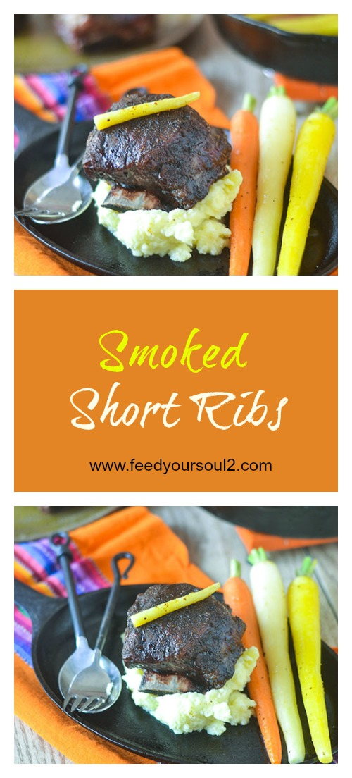 Smoked Short Ribs #beef #smoker #ribs | feedyoursoul2.com