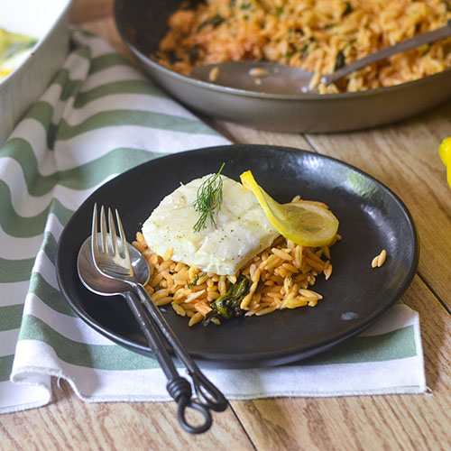 Baked Lemon Dill Cod #seafood #dinner #Baking  feedyoursoul2.com