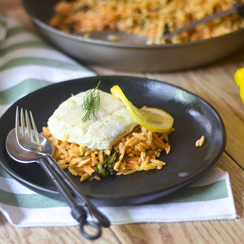 Baked Lemon Dill Cod #seafood #dinner #Baking| feedyoursoul2.com