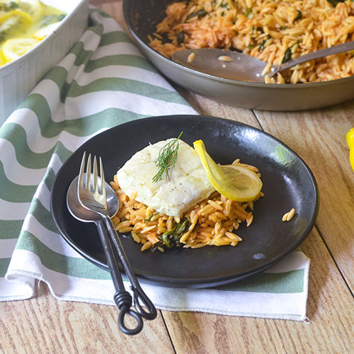 Baked Lemon Dill Cod from Feed Your Soul Too
