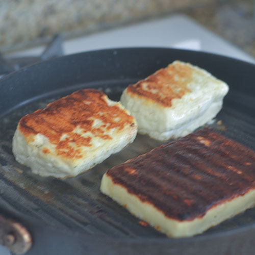 Grilling the Haloumi