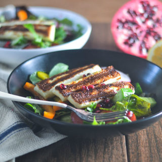 Grilled Haloumi Pomegranate Salad