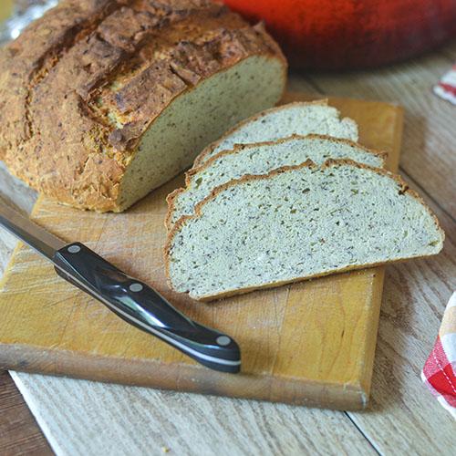 Gluten Free Flax Bread #bread #glutenfree #baking | feedyoursoul2.com