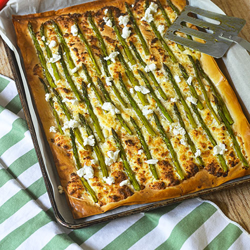 Easy Asparagus Tart from Feed Your Soul Too