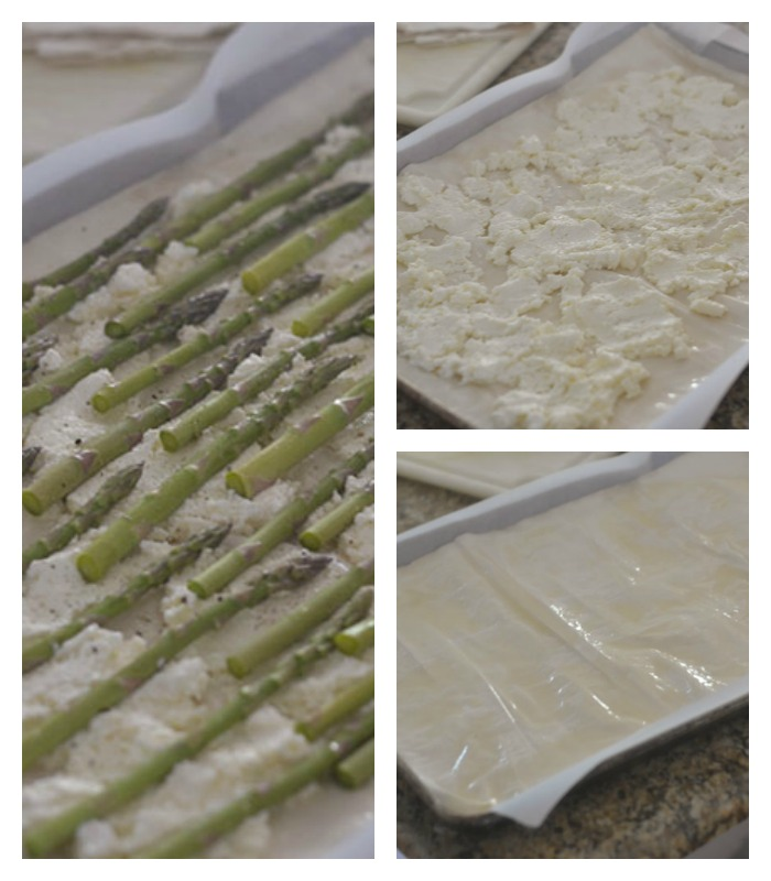 Assembling the Asparagus Tart