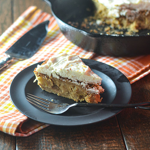 GF Skillet Apple Cake #apples #glutenfree #cake | feedyoursoul2.com