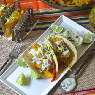 Pan Fried Sea Bass Tacos