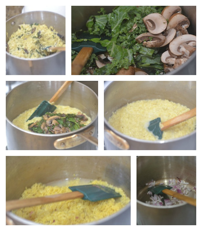 Building the Mushroom Pesto Pasta