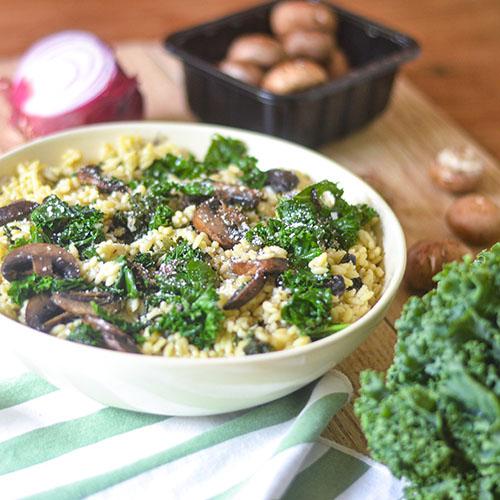Mushroom Kale Risotto #vegan #risotto #kale #Italianfood | feedyoursoul2.com