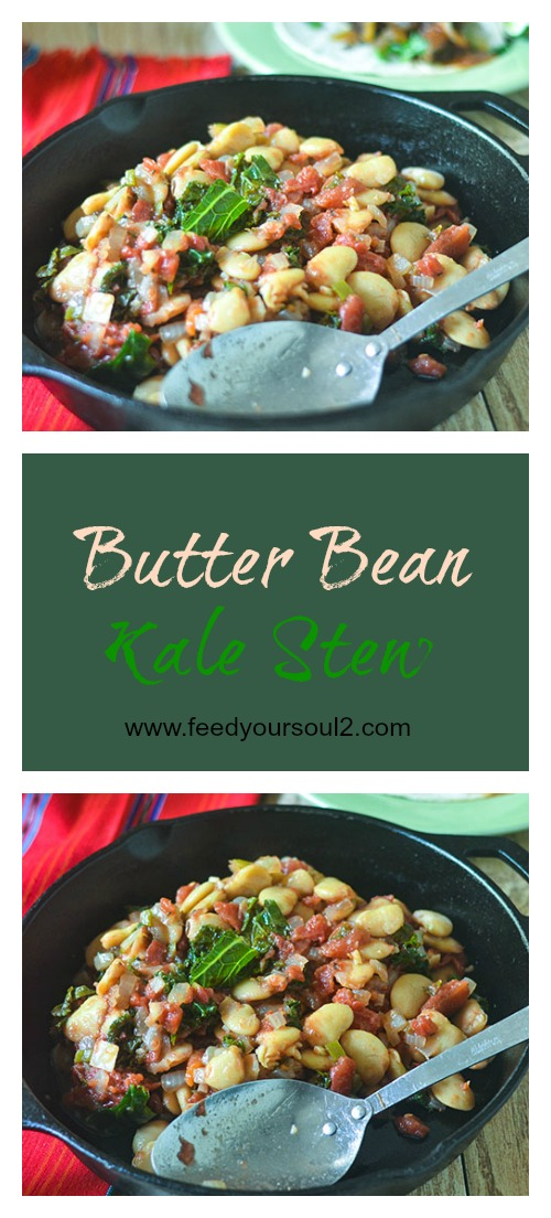 Butter Bean Kale Stew #vegan #stew #beans | feedyoursoul2.com