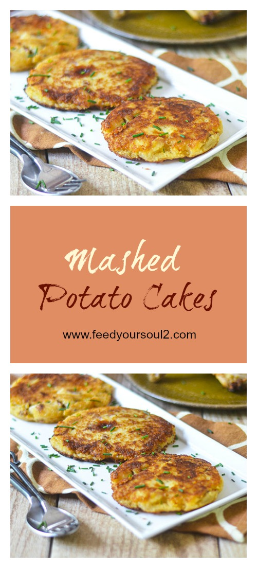 Mashed Potato Cakes #leftovers #sidedish #potato | feedyoursoul2.com