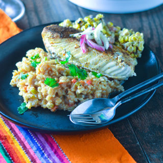 Mexican Green Chili Risotto