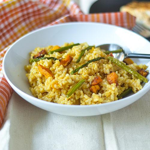 Butternut Squash Risotto l #glutenfree #vegetarian #rice #Italianfood | feedyoursoul2.com