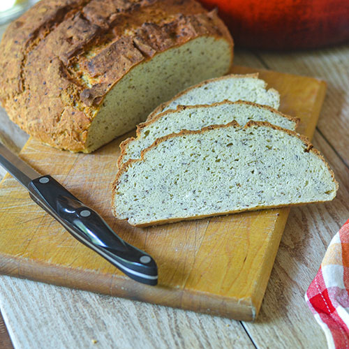 GF Artisan Flax Bread from Feed Your Soul Too