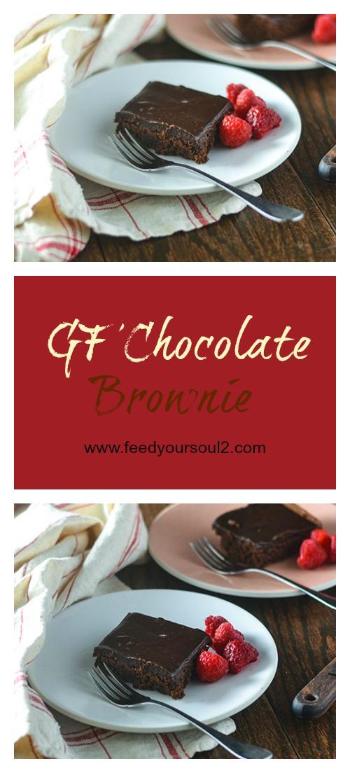 GF Chocolate Brownie l #glutenfree #dessert #chocolate | feedyoursoul2.com