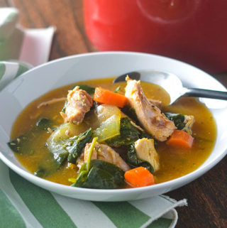 Smoked Chicken & Spinach Soup