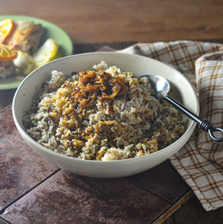 Mujadara – Caramelized Onions & Rice
