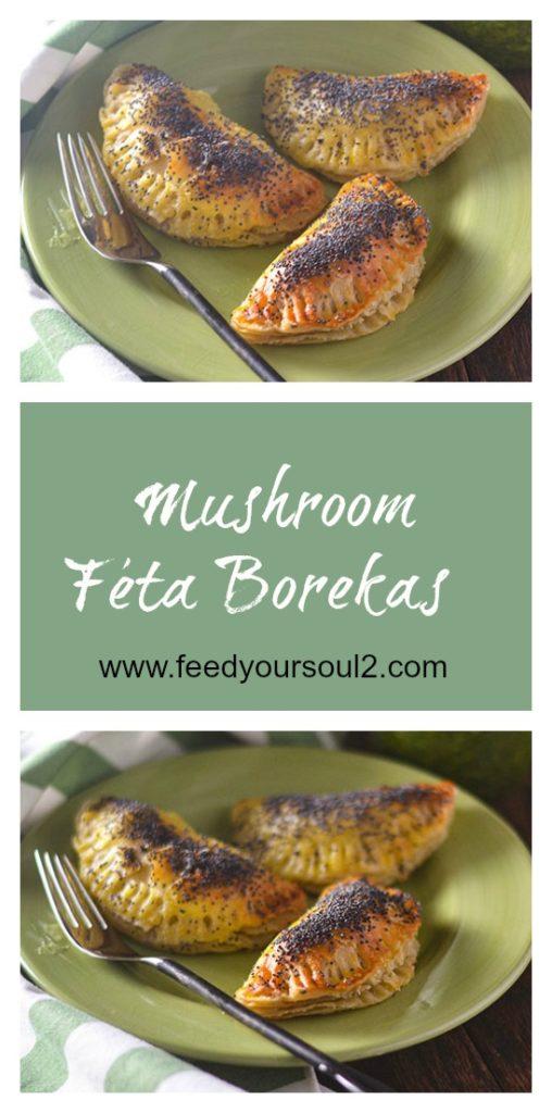Mushroom Feta Borekas l #Israelifood #dough #mushrooms | feedyoursoul2.com