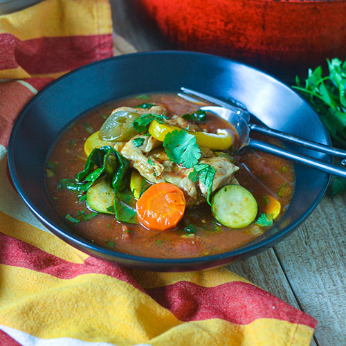 Chicken Stew Veracruz l #glutenfree #chicken #stew | feedyoursoul2.com