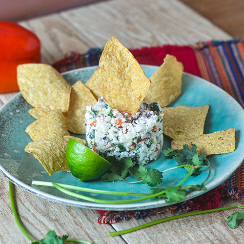 Citrus Queso Salad l #appetizer #cheese #glutenfree #Mexicanrecipe | feedyoursoul2.com