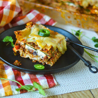GF Mexican Vegetable Lasagna