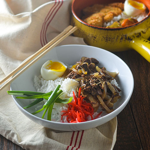 Japanese Beef Rice Bowl l #dashi #beef #glutenfree #Japaneserecipe | feedyoursoul2.com