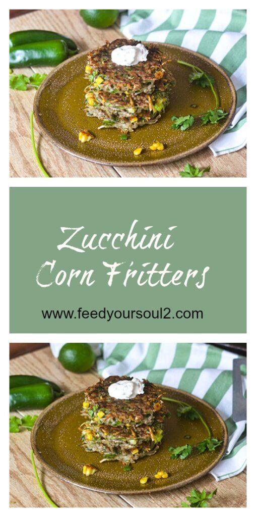Zucchini Corn Fritters l #zucchini #beef #glutenfree #fritters | feedyoursoul2.com