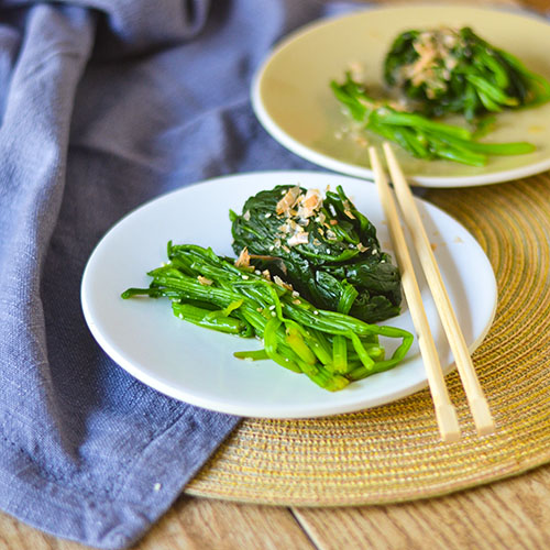 Japanese Spinach l #spianch #Japanesefood #glutenfree | feedyoursoul2.com