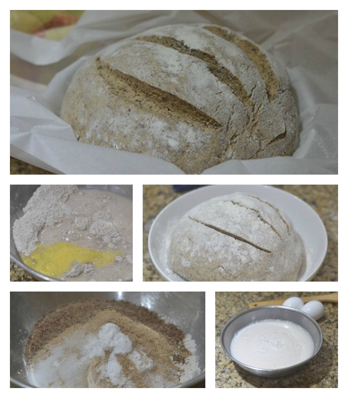Mixing the ingredients and making the bread