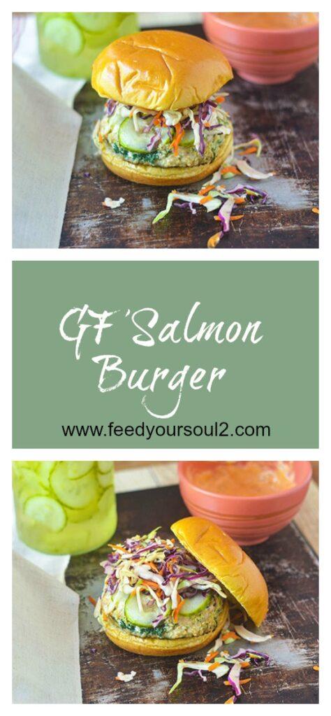 GF Salmon Burger l #salmon #burger #glutenfree | feedyoursoul2.com