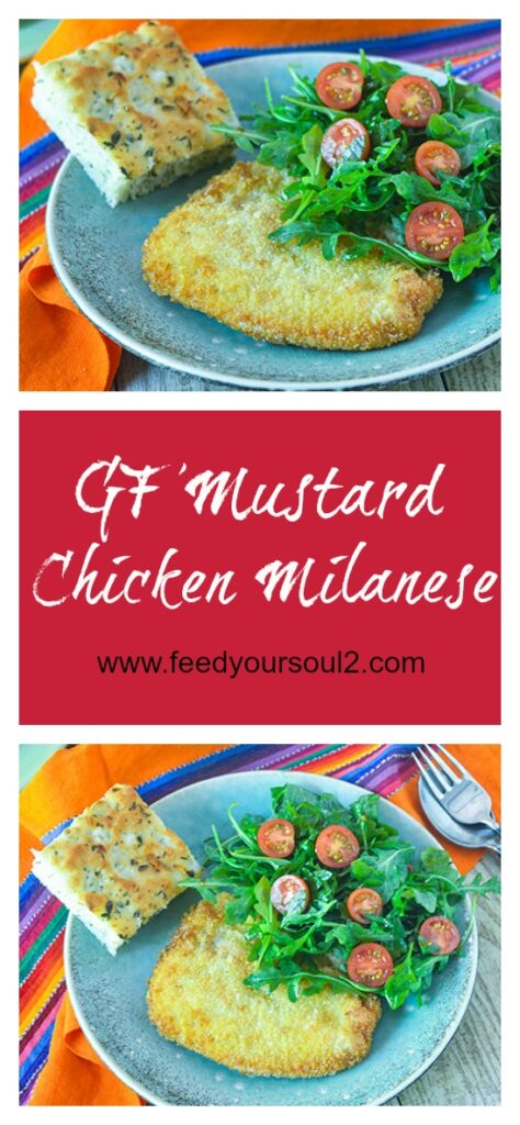 GF Mustard Chicken Milanese l #glutenfree #chicken #Italianrecipe | feedyoursoul2.com