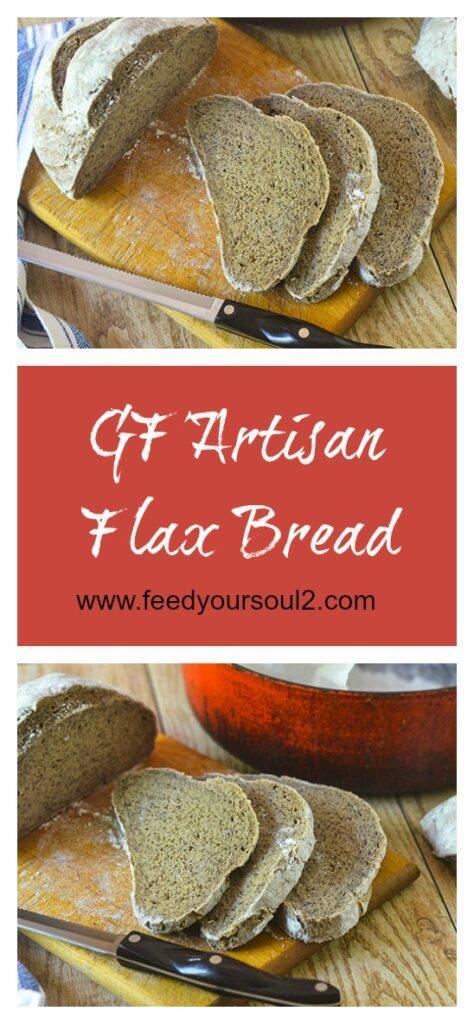 GF Artisan Flax Bread l #glutenfree #bread #baking #flax | feedyoursoul2.com