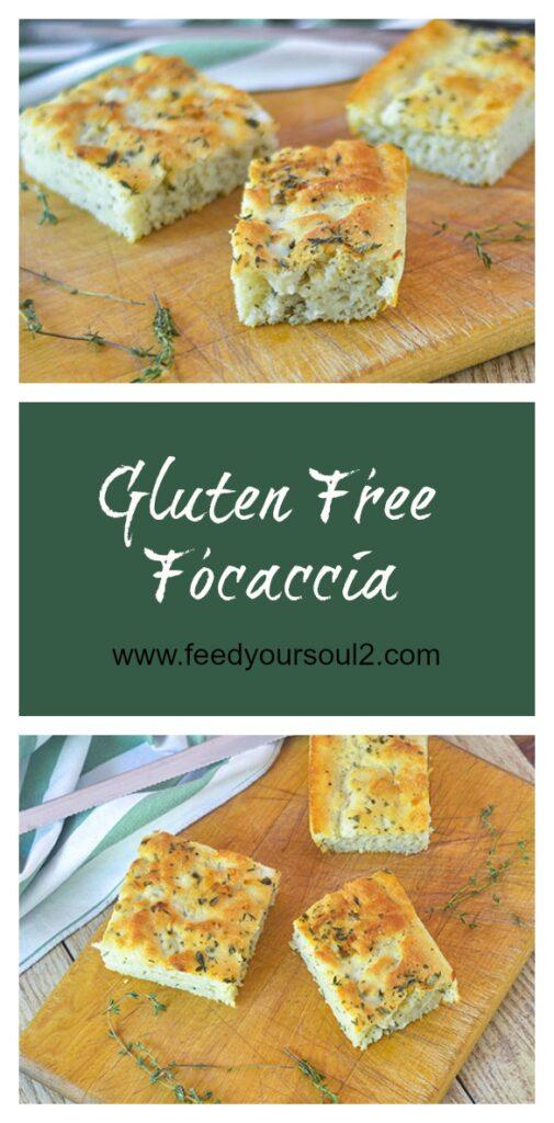 Gluten Free Focaccia l #bread #Italianrecipe #glutenfree | feedyoursoul2.com