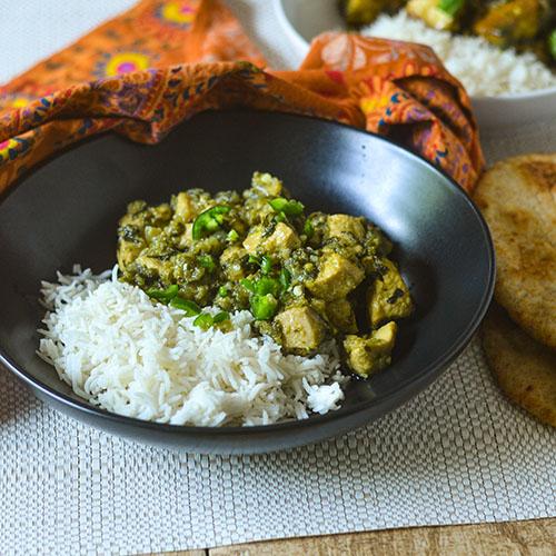 Spicy Indian Chickenl #glutenfree #Indianfood #chicken #onepotmeal | feedyoursoul2.com